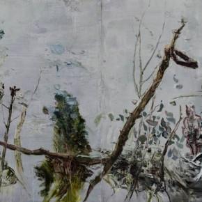 Wild Grass in Autumn by Tu Hongtao, 2011; Oil on Canvas, 300×120cm