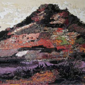 02.He Kun-Reflection of the Red Mountain - The Language of the Mountain No.6, Woodblock , 60 x 90 cm, 2011