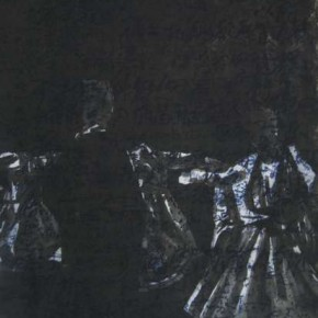 03.Kong Guoqiao-Face of History - Dance of the Dark Shadows No.1, Etching, 69 x 49 cm, 2009