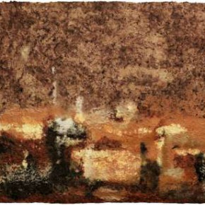 14.Zhou Jirong-Landscape on paper, Mixed media on paper, 100 x 200 cm, 2011
