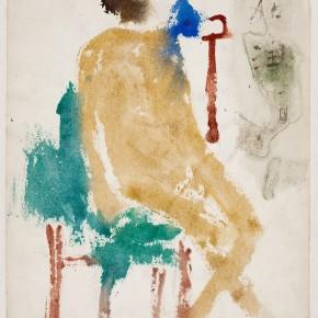 01 Hoo Mojong-Figure 7, 1968; Water color, 32x25cm