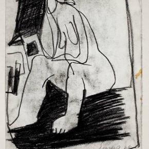 03 Hoo Mojong-Figure 94, 1966; Charcoal pencil, 27x21cm
