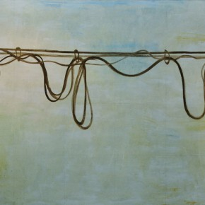 03 Zhang Enli-Electric Wire, 2011; oil on canvas, 160×300cm