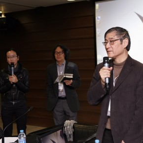 04 Pan Gongkai, President of CAFA made his speech in the discussions of International Colleges of Fine Arts and Design Summit.