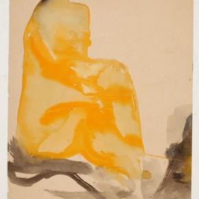 05 Hoo Mojong, Figure 29, 1971; Ink,Water color, 56x31cm
