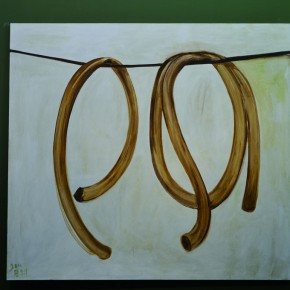 06 Zhang Enli-Two Pipes, 2011; oil on canvas, 200×220cm