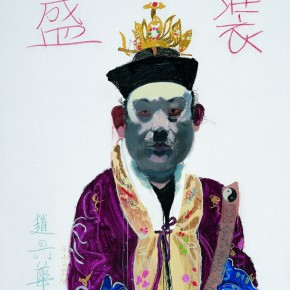 07 Wang Yuping-Taoist Priest No.05, 2007; oil painting and acrylic, 150x120cm