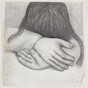 09 Hoo Mojong-Bend over, 1970; pencil, 39x39cm