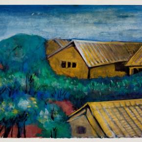 10 Hoo Mojong- Landscape 3; Gouache, 25x33cm
