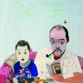 11 Wang Yuping-Father and Son, 2010; oil painting and acrylic, 200x160cm