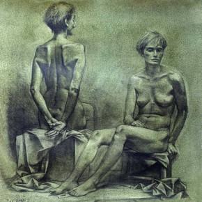 11 Ye Nan-Two Human Bodies, 1995; drawing, 50×50cm