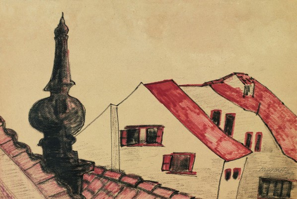12 Hoo Mojong-Landscape, 1964; water color and Pastel, 34x51cm