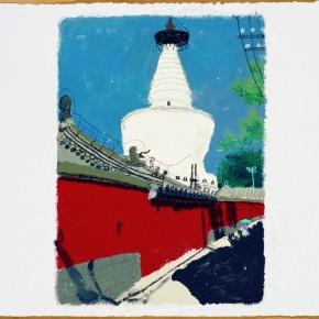 13 Wang Yuping-Bai Ta Si 3, 2010; acrylic and pastels, 58x72cm