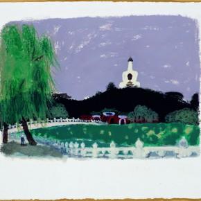 14 Wang Yuping-Bei Hai 2, 2010; acrylic and pastels, 58x72cm