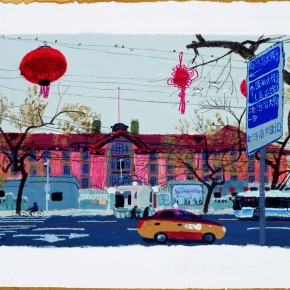 15 Wang Yuping-The Red Building of Peking University, 2010; acrylic and pastels, 58x72cm