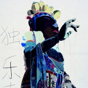 16 Eleven Face Guan Yin (the upper part), 2010; oil painting and acrylic, 240x190cm