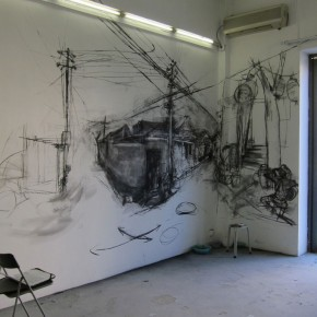 16 The live drawing on the walls of Where Where Art Space 01