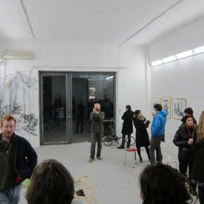 20 Audience participated in the live drawing on the walls of Where Where Art Space.