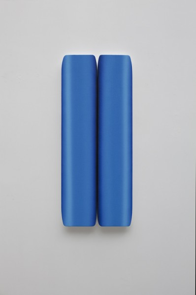 Duad by Chen Wenji,(Drawing in Duplicate), 2011; Board,Oil on linen, 100x21cmx2