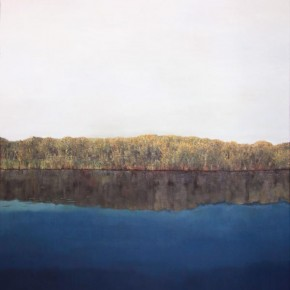 Li Xin-River Side Landscape No.1, 2011; Oil on canvas, 120X150cm