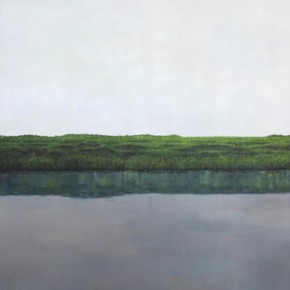 Li Xin-River Side Landscape No.2, 2011; Oil on canvas, 120X150cm