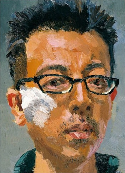 Liu Xiaodong- Self-Portrait, 2010; oil on canvas, 38x33cm