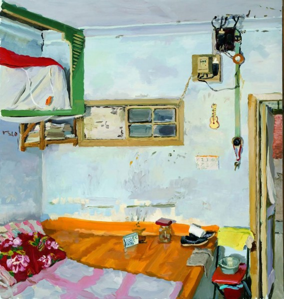 Liu Xiaodong-The House Where I Grew up, 2010; oil on canvas, 150x400cm