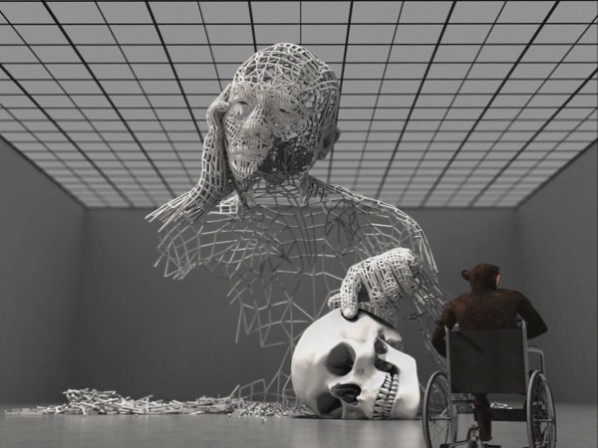 "Metamorphosis-Miao Xiaochun, 2011; Doubt-3D Computer animation, 1'24"""