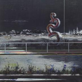 Schattenwanderung 5 2010 Oil on canvas 120 x 85 cm