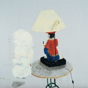"""Wang Yuping """"A Little Man Playing the Drum"""" oil and acrylic on canvas 190 x 220 cm 2008 290x290 - Wang Yuping"""
