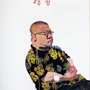 "Wang Yuping ""Brother Ji"" oil painting and acrylic 150 x 120 cm 2005 290x290 - Wang Yuping"