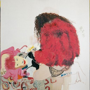 "Wang Yuping, ""Cony Hair"", oil on canvas, 180 x 170 cm, 2008"