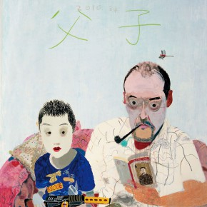 """Wang Yuping """"Father and Son""""02 oil and acrylic on canvas 200 x 160 cm 2010 290x290 - Wang Yuping"""