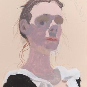 """Wang Yuping """"Girl from Czech Republic"""" oil pastel and acrylic on paper 58 x 39 cm 2012 290x290 - Wang Yuping"""