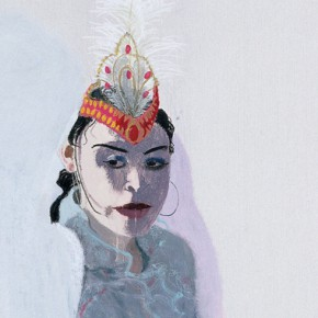 "Wang Yuping, ""Harridan"", oil painting and acrylic, 200 x 75 cm, 2009"