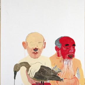 "Wang Yuping ""Holding a Duck No.2"" oil painting and acrylic 150 x 120 cm 2006 290x290 - Wang Yuping"