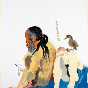 "Wang Yuping ""How Cute the Bird is "" oil and acrylic on canvas 150 x 120 cm 2006 290x290 - Wang Yuping"