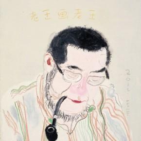 """Wang Yuping """"Lao Wang Paints – Lao Wang"""" oil on canvas 75 x 600 cm 2012 290x290 - Wang Yuping"""