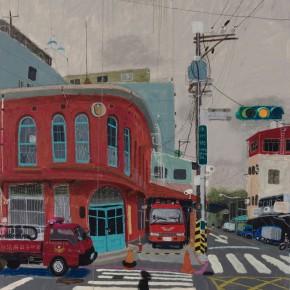 """Wang Yuping, """"Liangzhou Street"""", 150 x 120 cm, 2012"""