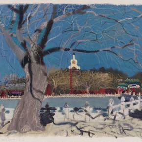 """Wang Yuping """"North Sea No.10"""" acrylic and oil pastel on paper 57.5 x 72.5 cm 2013 290x290 - Wang Yuping"""