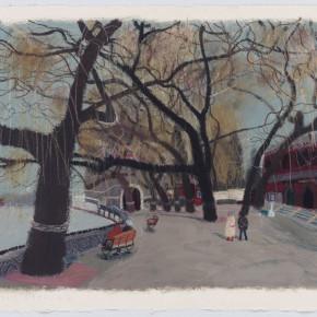 """Wang Yuping """"North Sea No.11"""" acrylic and oil pastel on paper 57.5 x 72.5 cm 2013 290x290 - Wang Yuping"""