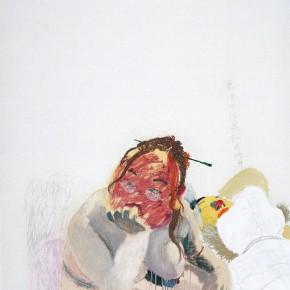 "Wang Yuping ""On Her Body"" oil and acrylic on canvas 150 x 120 cm 2007 290x290 - Wang Yuping"