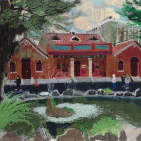 "Wang Yuping, ""Oxford College"", 60 x 80 cm, 2012"