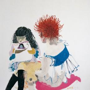 "Wang Yuping ""Red Hair No.3"" oil painting 180 x 170 cm 2008 290x290 - Wang Yuping"