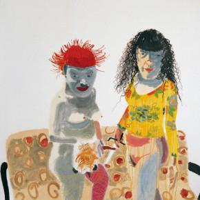 "Wang Yuping, ""Red Hair No.4"", oil painting, 180 x 170 cm, 2008"