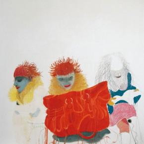 "Wang Yuping, ""Red Hair No.5"", oil painting, 180 x 170 cm, 2008"