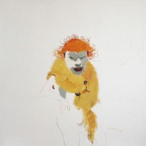 "Wang Yuping, ""Red Hair No.6"", oil painting, 180 x 170 cm, 2008"