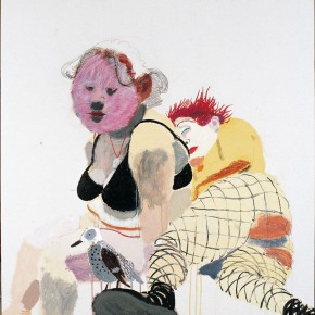 """Wang Yuping """"Red Hair and the White Fat No.2"""" oil painting and acrylic 150 x 120 cm 2006 290x290 - Wang Yuping"""