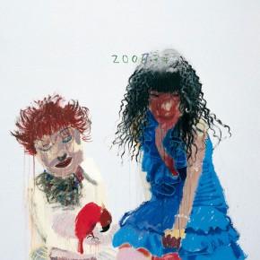 "Wang Yuping ""Red Parrot"" oil painting and acrylic 190 x 150 cm 2007 290x290 - Wang Yuping"
