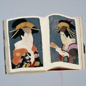 "Wang Yuping, ""Sharaku Painting No.2"", oil and acrylic on canvas, 100 x 100 cm, 2013"